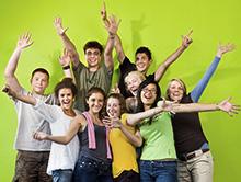 Jongeren tijdens taalcursus in de herfstvakantie
