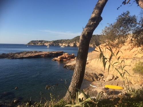 Mooi uitzicht tijdens Spaanse cursus op Ibiza