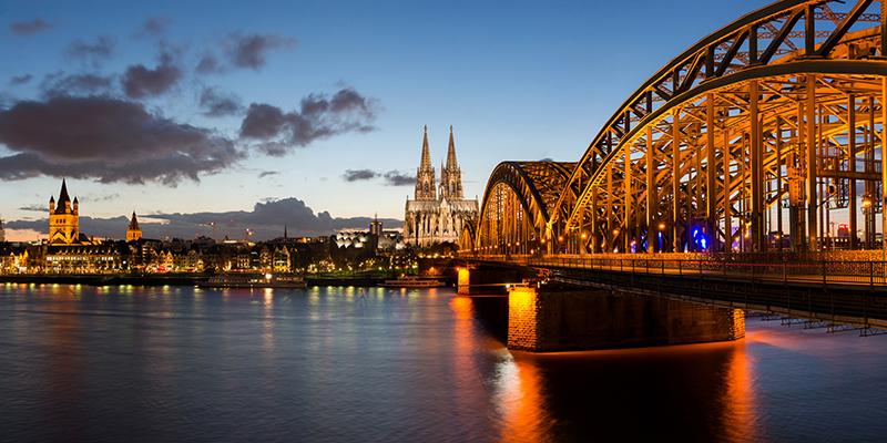 Uitzicht over Keulen na de Duitse cursus