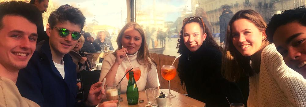 Internationale cursisten van Franse taalschool ILA