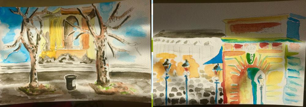 Montpellier schilderen na de Franse les bij ILA