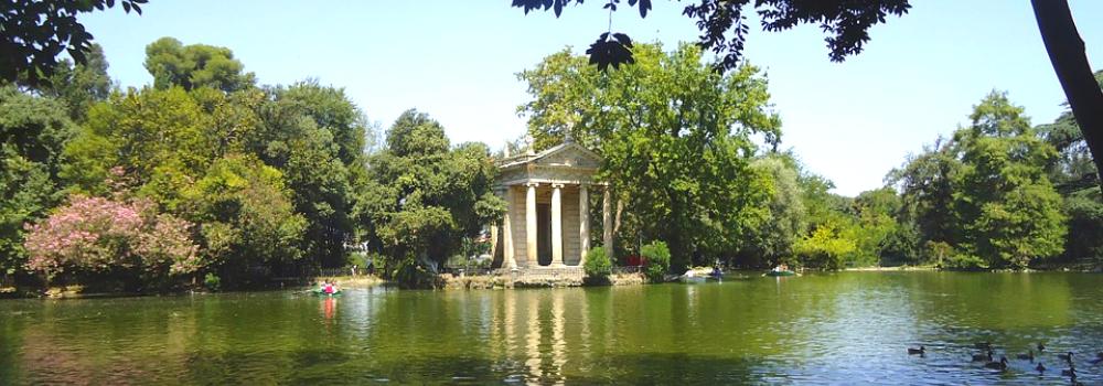 Italiaans leren in Rome voor volwassenen. Kom tot rust in stadspark Villa Borghese. Ontdek het tijdens het Italiaans leren in Rome