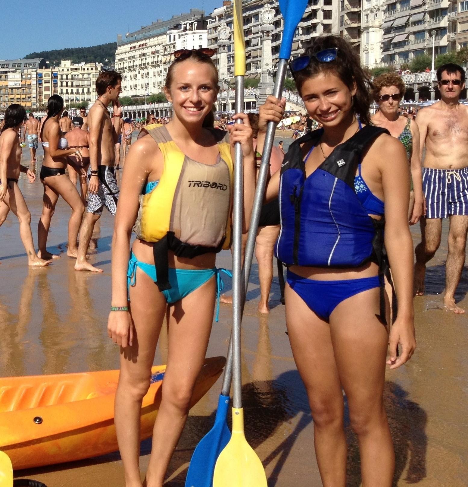 Taalkamp in het buitenland met watersporten